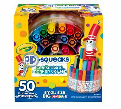 Crayola® Pip-Squeaks Markers With Tower Storage Case, Assorted Colors, Pack Of 5