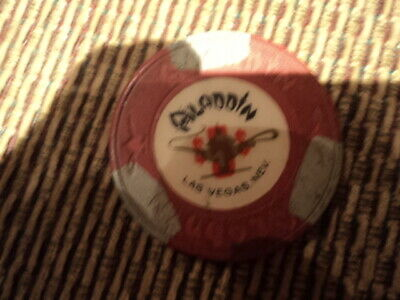 Vintage Aladdin Las Vegas Nevada $5 Casino Gaming Chip
