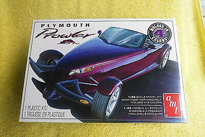 Nib! Amt 1:25 Scale Plymouth Prowler Snap It Plastic Model Kit Molded N 4 Colors