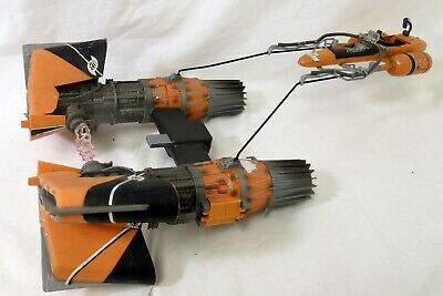 "Hasbro Star Wars Episode I 1 3.75"" Sebulba's Pod Racer Vehicle Damaged"