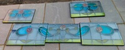 Stained Glass Rectangular Leaded Window Hanging very nice