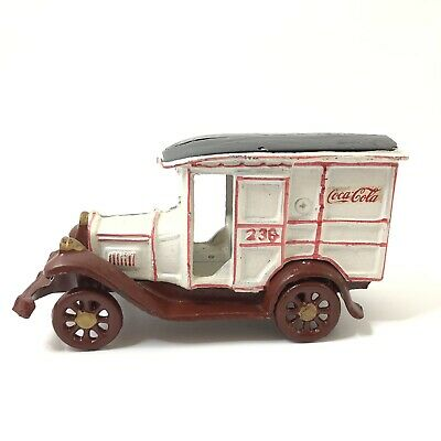 Cast Iron Coca Cola Delivery Truck 236 Collectible Car Made in Taiwan