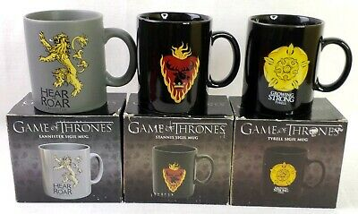 Game of Thrones Coffee Mugs Dark Horse Comics  Lannister Tyrell Stannis Lot Of 3