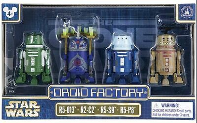 Disney Parks Star Wars Clone Wars Droid Factory 4 Pack R5-013 R2-C2 R5-S9 R5-P8