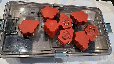 Stryker System 5 Set Sagittal, Rotary,Recip,Pincol Attachments,Aseptic Battery