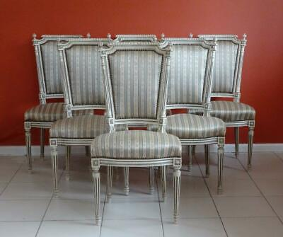 Antique/ Vintage French Louis XVI Dining Kitchen Chairs   (Set of 6)