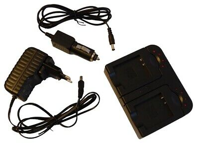 2in1 CHARGEUR SET pour JVC GZ-MG530 / GZ-MG530ex / GZ-MG555