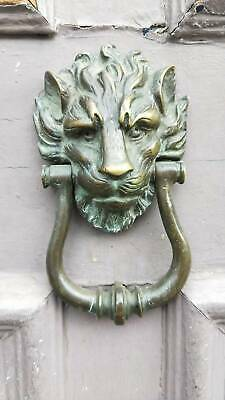 Victorian Antique Door With Lion Head Knocker