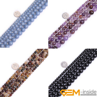 Natural Assorted Gemstone Round Loose Beads 15'' 4mm 6mm 8mm 10mm 12mm 13mm