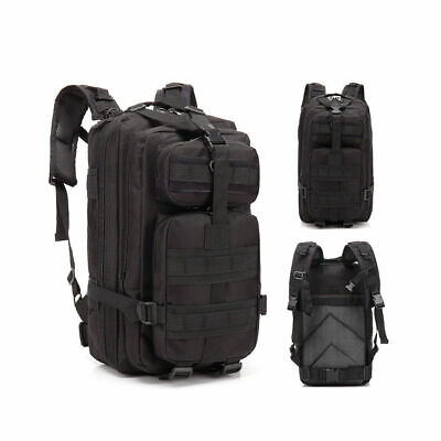 30L Sport Outdoor Military Rucksacks Tactical Black Backpack Camping Hiking New