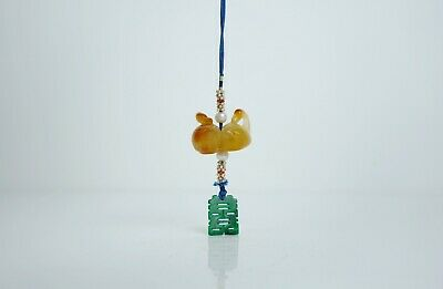 An Agate Carving 'Wild Goose' Pendant