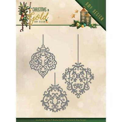 Stanzschablone - Amy Design - Christmas in Gold - Goldene Ornamente