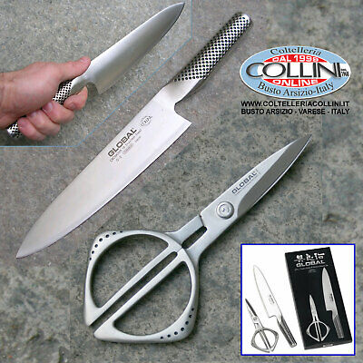 57/5000 Global - G2210 - Set of 2 pieces scissors and knife GK-210 + G2