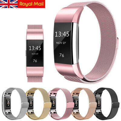 Straps For FitBit Charge 2 Wristband Replacement Milanese Metal Wrist Bands UK