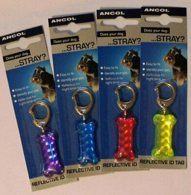 Ancol Reflective ID Tag Reflective Night Time Safety Lightweight - Colours Vary