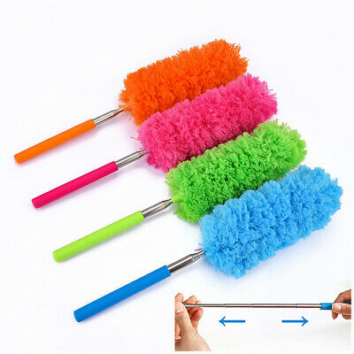 Extendable Handle Microfiber Duster House Cleaning Brush Home Dust Cleaner