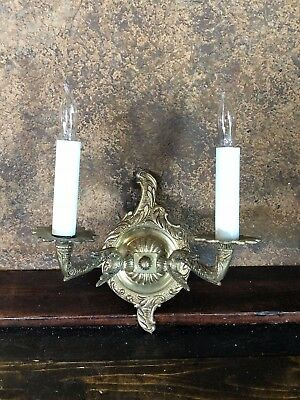21926 1920s Wall Sconce Art Deco Light Fixture ~ Vintage Wall Lamp