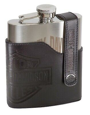 Harley-Davidson Ace H-D Bar & Shield Flask Flachmann, ca. 9,8 x 13 x 2,5 cm, 7oz