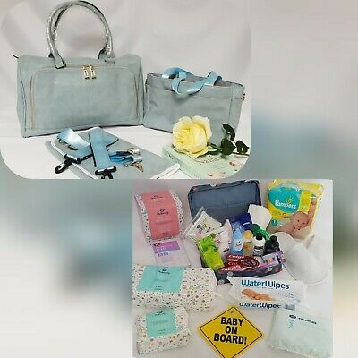 Pre Packed Maternity Hospital Changing Bag - 24 products for mum and baby