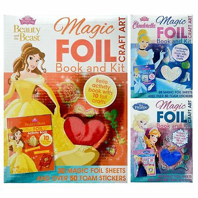 Disney Magic Foil Craft Art Book And Kit Activity Foam Stickers Princess Fun