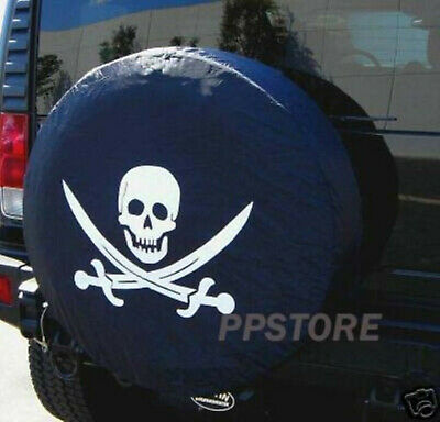 "15"" DIY trailer Spare tire tyre Wheel Cover Pirate SKULL PB15MSKCL brand new"