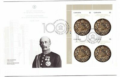 2008 Canada Royal Canadian Mint 52c Plate Block First Day Cover