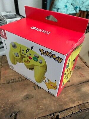 NEW - HORI Nintendo Switch Battle Pad GameCube Style Controller Pokemon Pikachu