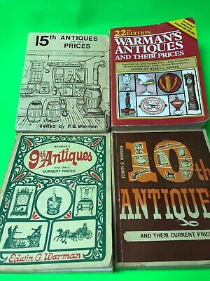 Warman's Antique lot Edwin G. Warman Antiques and their prices vintage lot