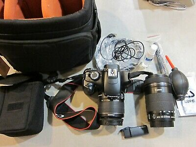 Canon EOS Rebel T3 Digital SLR Camera - Black with EF-S 18-55mm AND 55-250 LEN