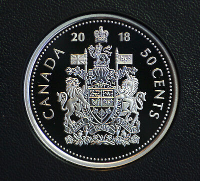 2018 Canada Classic design 50 cent coin steel-  from set  -  in proof finish