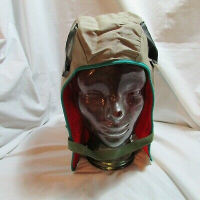 Vintage OKI Supply Co. Comfort Green Canvas Fire Retardant Winter Hard Hat Liner