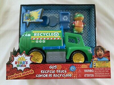 Toy Review Gus Figure disc launcher NEW Ryans World Gus/' Recycle Truck