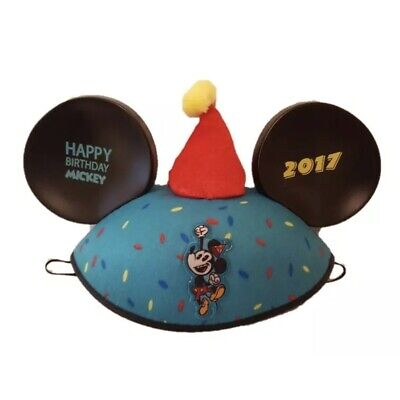 NWT Disney Parks Happy Birthday Mickey Mouse Ears 2017 Ear Hat