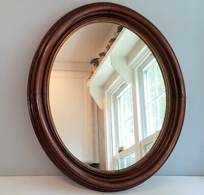 VERY LARGE Victorian WALNUT Oval Frame 27 x 23 Holds 22 x 18 1/4 Brass Liner