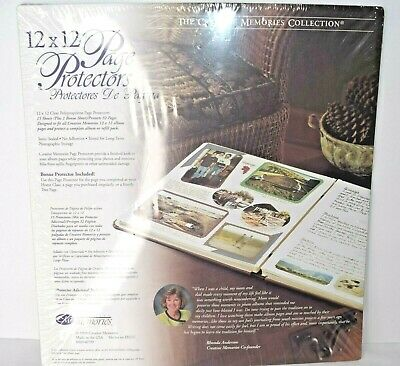 Creative Memories Page Protectors 12x12 16 Sheets 1999 Old Style New Sealed