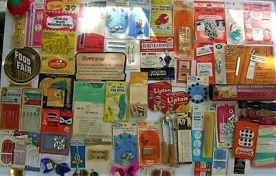 61 Piece Lot Vintage Assorted Sewing Accessories Collectibles