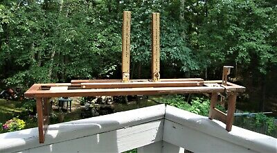 Vintage/Antique Photographic Photo Enlarger Easel Rail Oak Hand Crafted Ruled