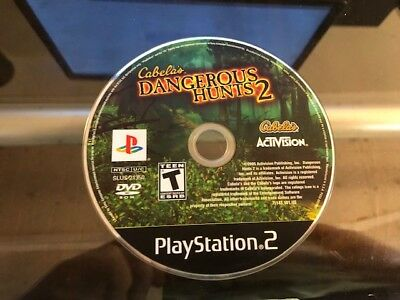 CABELA'S DANGEROUS HUNTS 2 (PS2 Playstation 2) WORKS / NO TRACKING / DISC ONLY