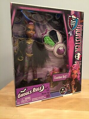 Mattel MONSTER HIGH GHOULS RULE CLAWDEEN WOLF New In Box doll halloween