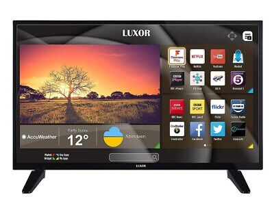 Luxor LUX0132009/01 32 Inch SMART HD Ready LED TV Freeview Play Black