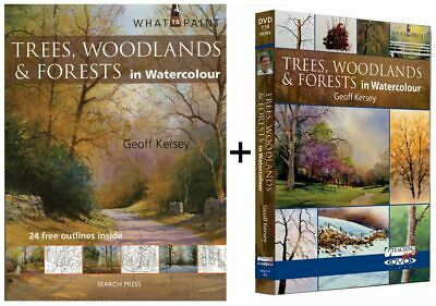 What to Paint Trees Woodland and Forests in Watercolour Book & DVD Set