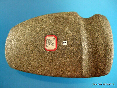 Super Fine Authentic Posey County Indiana Grooved Hardstone Axe Indian Artifacts