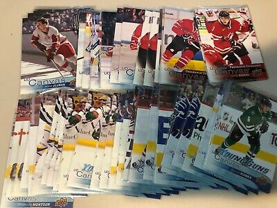 2016-17 Upper Deck UD CANVAS Young Guns RC - u-pick / finish/ complete your set