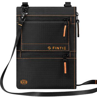 Genuine Leather Passport Holder Cover Slim Cards Case Travel Wallet with Lanyard