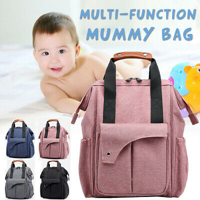 Multifunctional Nappy Yummy Mummy Changing Maternity Baby Bag Backpack Diaper