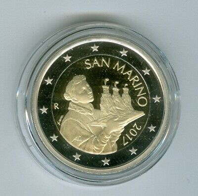 San Marino Currency Coin 2017 Pf only 2.600 Piece