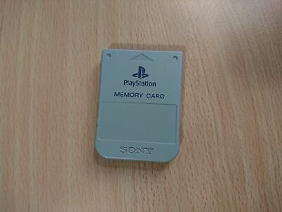 PS1 Sony PlayStation 1 - Official/Genuine Memory Card (Grey) PS1/PSX/PS2 B