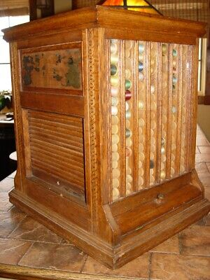 Clark's ONT Revolving 4 Sided Spool Thread ~ Rare Old Store Display Case