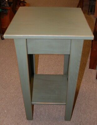 NEW Amish Made in Ohio USA Solid Wood Plant Stand Table Antique Slate Color
