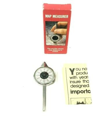 Vintage Brookstone #2962 Map Measurer Opisometer Inches to Feet, In Original Box